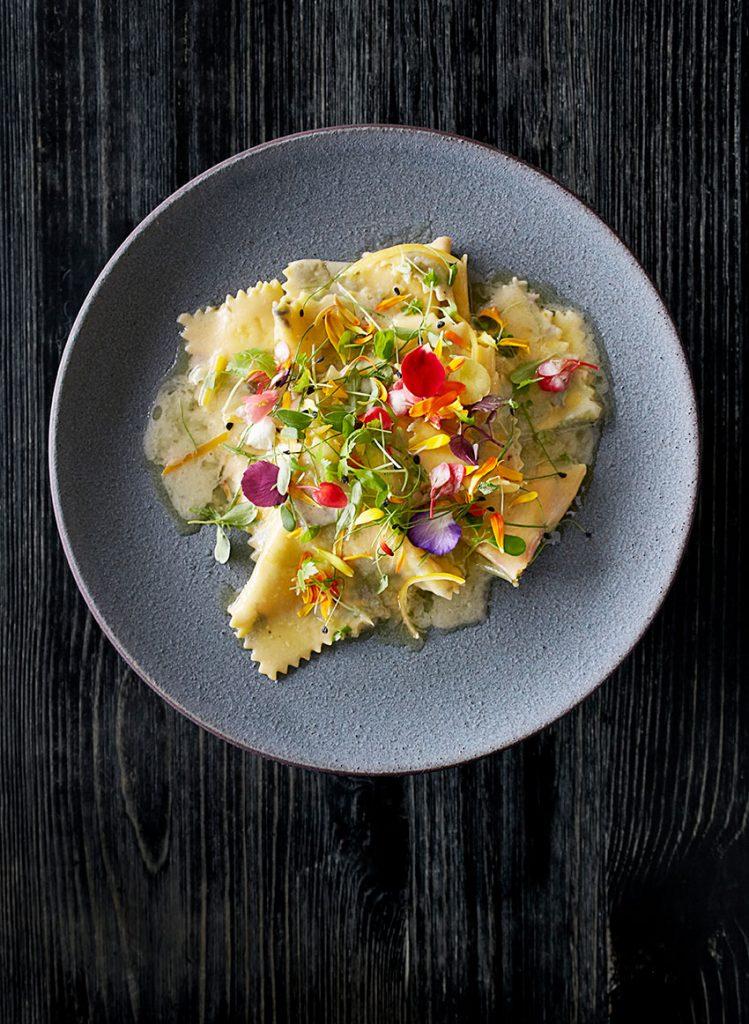 Fazzoletti pasta from Viaggio Ristorante. (Photo: Signe Bircke Photography)