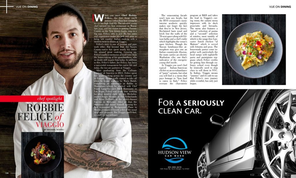Robby Felice Featured in Vue Mag